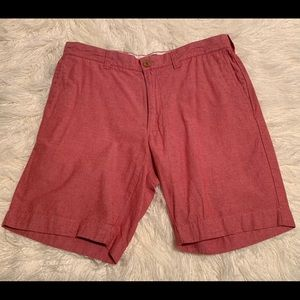 J. Crew Mens  Salmon Red Shorts Gramercy 33